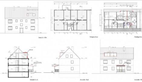 Ausbau eines ungenutzten Dachspeichers in Wohnungen, Brühl