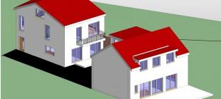 Sanierung eines Bestandsgebäudes und Errichtung eines Einfamilienhauses in Miel